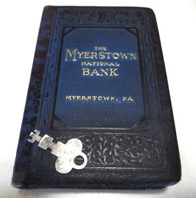 Antique Book Bank  W/ Key The Myerstown National Bank, Myerstown Penn.