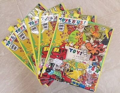 Toys R Us Vintage Advertisements Exclusive Reusable Shopping Bag Tote Lot of 5!