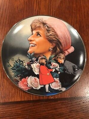 "FRANKLIN MINT ""DIANA PRINCESS OF WALES-ENGLAND'S ROSE"" COLLECTORS PLATE by drew"