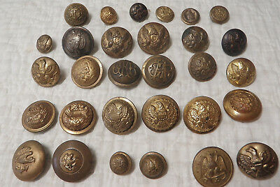 320 Military Buttons From Civil War to WWII, Police, Fire, Railroad, Pins, Badge