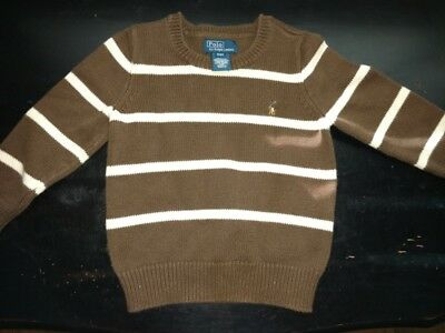 Polo Ralph Lauren Boys Brown sweater 3T winter sweater