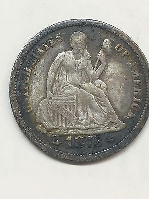 1873 Arrows Seated Liberty Dime