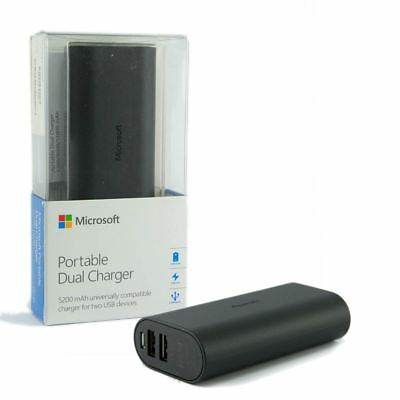 Genuine MICROSOFT 5200 mAh Portable Dual Charging Port Power Bank Battery Pack