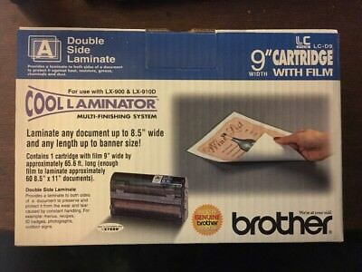 "Brother LC Film Cool Laminate Double Sided - 9"" Cartridge w/Film LC-D9"