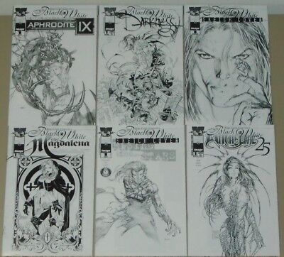 Top Cow Classics in Black & White lot of 6 Magdalena Darkness Witchblade, more