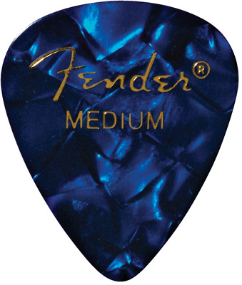 Fender Premium Celluloid Guitar Picks - 12-pack blue moto medium