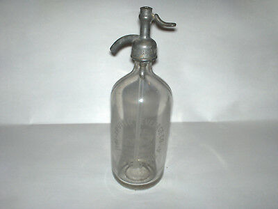 OLD Seltzer Siphon Bottle IRVING BEVERAGES CO CHICAGO IL ILL Car Syphon