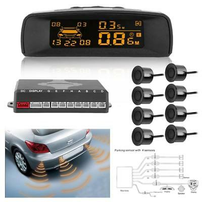 LCD Car Auto Parking Sensor Kit Rear Reverse Backup Radar System w/ 8 Sensors