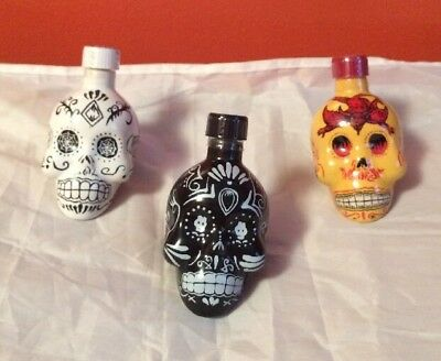 Kah Tequila Mini Liquor Bottle 3 Pack 50Ml Empty Limited Edition Free Shipping