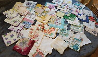 Vintage handkerchief lot  Better than  cutters lot of 50