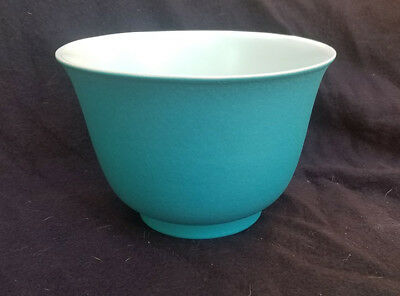 CATALINA POTTERY Gladding McBean Franciscan CAPISTRANO WARE Bowl Turquoise White