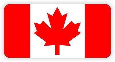 Canadian Flag Hard Hat Sticker | Safety Motorcycle Helmet Decal CAF Canada CAN