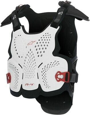 Alpinestars A-4 Chest Protector White/Black/Red XS/S