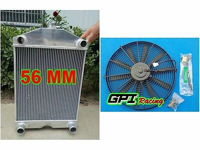 "NEW 2x1"" up to 700HP Ford 2N/8N/9N tractor w/flathead V8 aluminum radiator &fan"