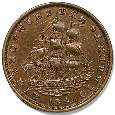 "1841 Low-59 ""Not One Cent for Tribute"" Hard Times Token"