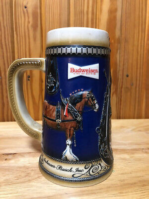 1989 Clydesdales Budweiser Holiday Stein Collector Series