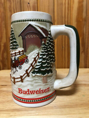World Famous Budweiser Clydesdales Holiday Tradition Stein, Vintage, Collector