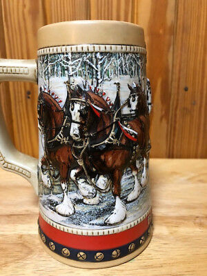 1988 Budweiser Holiday Stein Cobblestone Passage - 2 Available