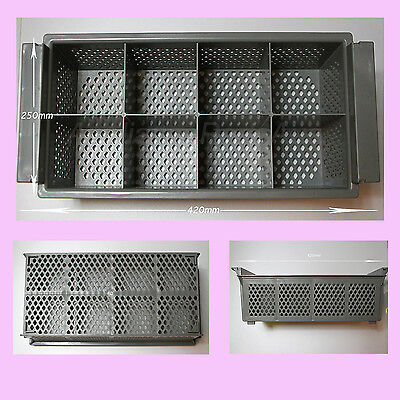 3  x  Large commercial dishwasher basket  8 sections commercial Quality