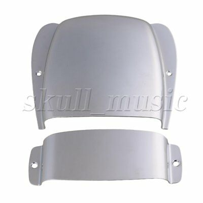 Chrome Zinc Alloy Pickup Bridge Plate Cover Set for J Bass Guitar Parts