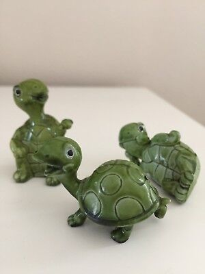 3 Plastic Collectible Turtle Figures