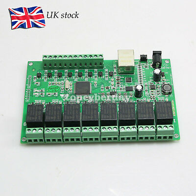 8CH Relay CNC Network IP Relay Web Relay Dual Control Ethernet RJ45 interface UK