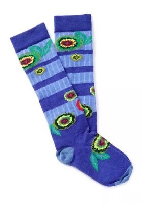 New SMARTWOOL Kids Lifestyle Cushion Girls Knee High Liberty Flower Socks Sz L