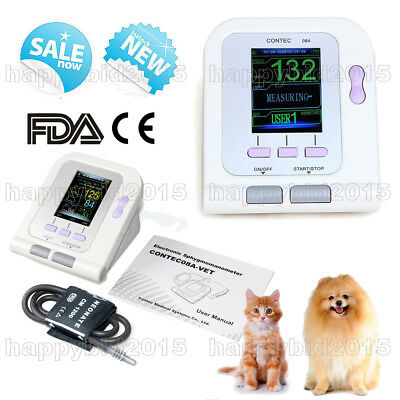 Color CONTEC08A-vet veterinary Digital Blood Pressure Monitor Upper Arm NIBP