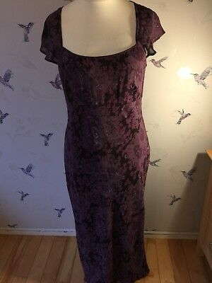 Beautiful Vintage Laura Ashley Purple Floaty Dress 16
