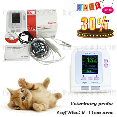 CE FDA Digital Blood Pressure Monitor,Veterinary/Animal NIBP+SPO2 Probe