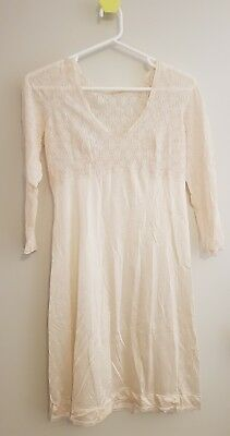 ladies cream vintage retro slip size 16