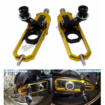 Chain Adjuster Tensioner with Spool Gold Fit 2009-2016 SUZUKI GSXR GSX-R 1000 K9