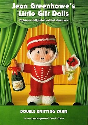 Jean Greenhowes Little gift dolls knitting pattern knitted bride groom + NEEDLES
