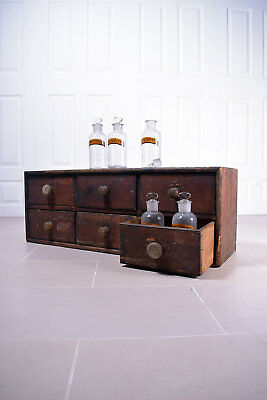 Wooden Apothecary Chemist Drawers Haberdashery Cupboard Filing Storage Cabinet