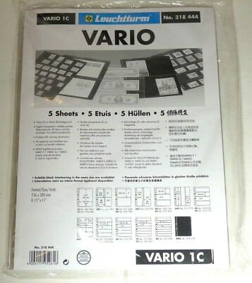 Lighthouse Vario PVC stock pages CLEAR backed pack of 5 - choice of strips - NEW