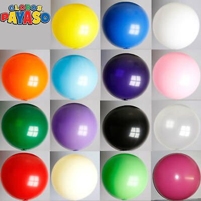 "24"" Plain Giant Solid Colour 2ft Latex Balloons Big Party Decorations - 10 pack"