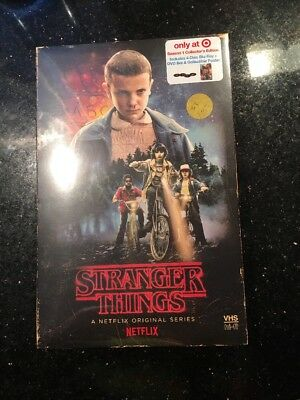 Stranger Things Season 1 Blu Ray Dvd Target Exclusive Vhs Packing Poster New