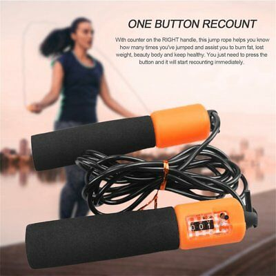 Adjustable Anti-slip Jump Rope With Accurate Counter Safe Jump Rope for Kids 8Q