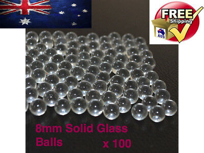 100PCS Solid Glass Balls 6 7 8 9mm Slingshot Beads Catapult Marbles Hunting Ammo