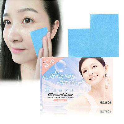 50 Pcs Facial Oil Control Absorption Film Tissue Makeup Blotting Paper QQ