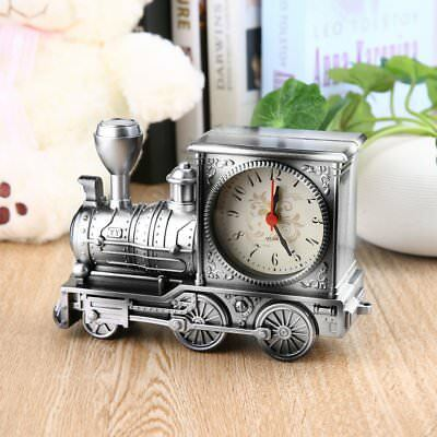 Train Model Alarm Clock Desk Table Home Office Novelty Decor Clock Gift
