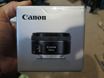 Canon EOS EF 50mm 1:1.8 STM Lens New in Box 2