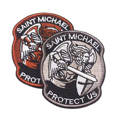 Saint Micheal Badger Military Tactical Army Morale Combat Multicam Patch 7P