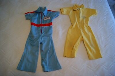 TWO VINTAGE 1970s CHILDREN'S KIDS JUMPSUITS - BUSTER BROWN