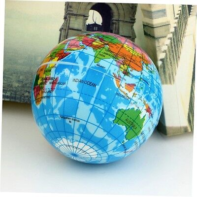 World Map Foam Earth Globe Stress Relief Bouncy Ball Atlas Geography TH092 A 7P