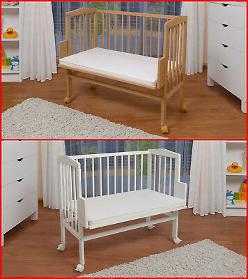 Waldin Baby Co-sleeping bed, Cradle, White or Natural, Adjustable in height