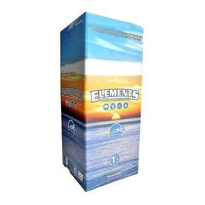 Elements Rice Cones 1 1/4 SIZE  Authentic Pre-Rolled Cones 100 pack  w/ Filter