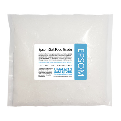 EPSOM SALTS 5KG | BP Medical Grade Magnesium Sulphate | Health Bath Salt Garden