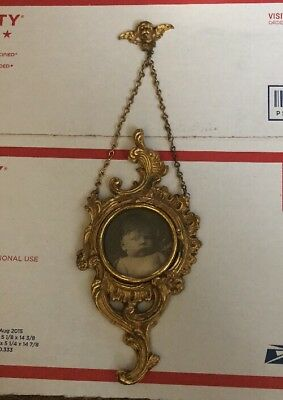 Antique Ornate Wall Picture Frame ~ Unusual Baby
