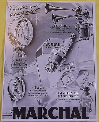MARCHAL 1950 Lighthouse Advertising former 640 and 520 Candle warning